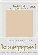 Kaeppel Elasthan Jersey Spannbetttuch , Größe:90x200-100x200 cm;Farbe:341 Leinen