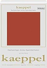 Kaeppel Elasthan Jersey Spannbetttuch , Größe:90x200-100x200 cm;Farbe:311 Terra