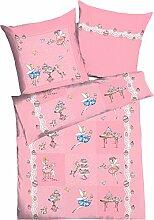 Kaeppel Kinder-Bettwäsche Cupcake Biber rosa