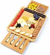 Käsebrett und Messer aus Bambus, Käseheber mit