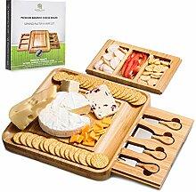 Käsebrett und Messer-Set - Charcuterie Board -