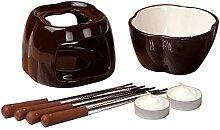 Käsefondue Set Keramik Topf Mit Teelichtkerzen 4