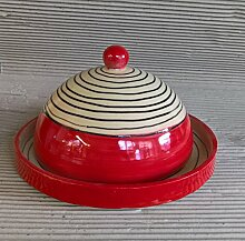 Käseglocke Käseplatte mit Deckel Keramik in