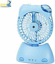 Kätzchen USB-Aufladeventilator-Spraybefeuchter netter Karikatur Meng Haustier kleiner Ventilator , blue