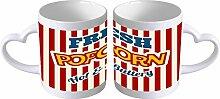 Kaffe Tasse Essen Restaurant Popcorn Henkel in