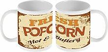 Kaffe Tasse Essen Restaurant Popcorn Keramik