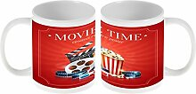Kaffe Tasse Küche Popcorn Kino Keramik bedruck