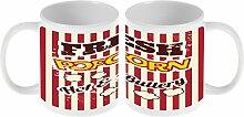Kaffe Tasse Star Popcorn Kino Keramik bedruck