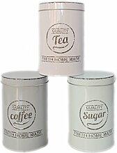 Kaffedose Aromadose 3er Set Coffee Tea Suger Dose