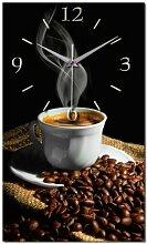 Kaffee Alu Designer Funk Wanduhr Funkuhr modernes Design *Made in Germany* WA118F