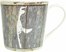 Kaffee-Becher- KRUG Sylt- Sylter Becher/blau-weiss