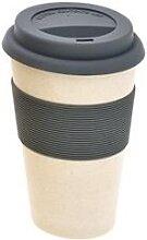 Kaffee Coffee TO GO Becher urban grey creme weiß Bambus H 15cm Magu Natur Design (7,95 EUR / Stück)