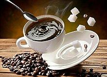 Kaffee Diamant Malerei 5D DIY Kaffee Bohnen Voll