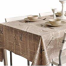 Kaffee Farbe Papier Leinen Tisch Tischdecke ( größe : 140*160cm )