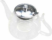 Kaffee Glas Teekanne Blühende chinesische Glas
