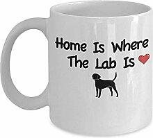 Kaffee-Haferl für Labrador-Besitzer - Zuhause