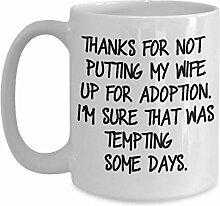 Kaffee-Haferl für Schwiegermutter Dank für meine