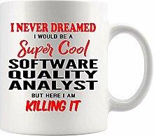 Kaffee-Haferl für Software-Qualitätsanalytiker