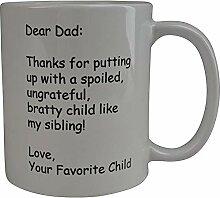 Kaffee-Haferl lieber Vater danke Neuheits-Schale