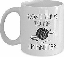 Kaffee-Haferl Sprechen Sie nicht mit mir m Knitter