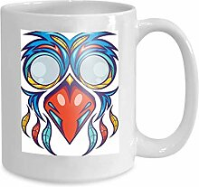 Kaffee-Haferl Tee Cupcolorful Vogelmaskenentwurf