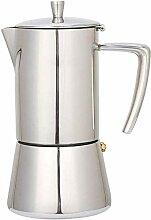 Kaffee Kessel 300ML 6-Tasse Edelstahl Stovetop