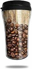 Kaffee Samen Bohnen Holz Reise Kaffeetasse