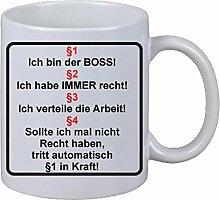 Kaffee Tasse Becher ich bin der Boss Regeln Geschenk Büro Werksta