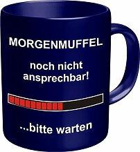 Kaffee Tasse Becher - Morgenmuffel! noch nicht ansprechbar ...bitte warten (Ladebalken) - einzeln im Geschenk Karton - zum Geburtstag
