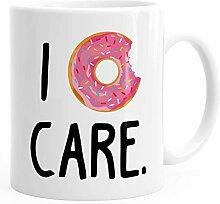 Kaffee-Tasse Becher Spruch I donut care
