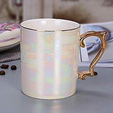 Kaffee Tasse Geschenk Perlenglasur