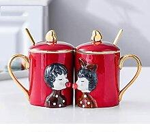 Kaffee Tasse Geschenk 2Pcs / Set Kreative