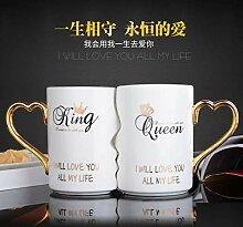 Kaffee Tasse Geschenk 2Pcs/Set Paar Tasse Keramik