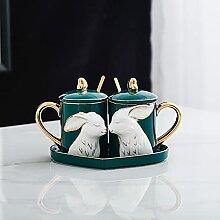 Kaffee Tasse Geschenk Paar Becher Volltonfarbe