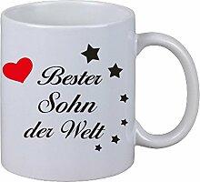 Kaffee Tasse Kaffebecher Bester Sohn der Welt Geschenk Bruder Geburtstag