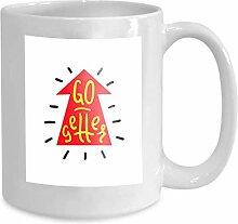 Kaffee tee becher tasse go getter einfach