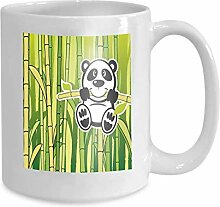 Kaffee tee becher tasse panda babmboo happy 110z