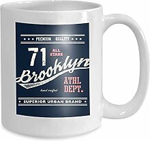 Kaffee Tee Becher Tasse Vintage Brooklyn