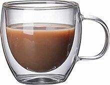 Kaffee- Teegläser Kaffeetasse Doppel