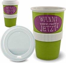 Kaffee to Go Becher aus Porzellan Wann wenn nicht