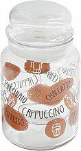 Kaffee Vorratsdose, Glas Aufbewahrung, Vorratsglas, 890 ml Glas Kaffee-Glas, Kaffee-Aufbewahrung, Aufbewahrungsglas, Bonboniere