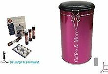 Kaffee Vorratsdose Pink mit Bügel-Verschluss +