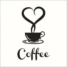 Kaffee Wandaufkleber Shop Restaurant