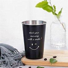 Kaffee Weinglas Becher SchwarzEdelstahl