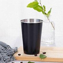 Kaffee Weinglas Becher Schwarz Edelstahl