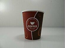 Kaffeebecher 0,2l 50St - 1000St Pappe 'Coffee