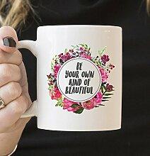 Kaffeebecher 11oz Coffee Mugs for Women, Be Your