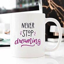 Kaffeebecher 11oz Coffee Mugs for Women, Never
