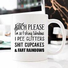Kaffeebecher 11oz Coffee Mugs for Women, Rude
