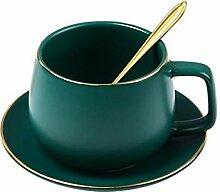 Kaffeebecher 1Pcs Porzellan Kaffeetasse Set Mit